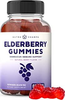 Elderberry Gummies with Vitamin C, Propolis & Echinacea - Immune System Support Gummy Vitamins for Adults & Kids - Max Str...