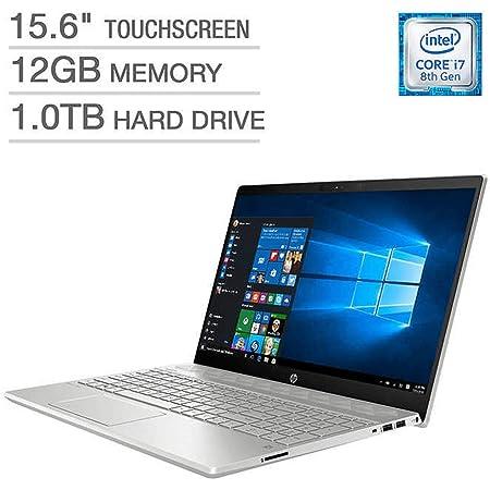 HP Pavilion Business Flagship Laptop PC 15.6 Inch FHD IPS WLED-Backlit Touch Screen Intel i7-8550U Processor 12GB DDR4 RAM 1TB HDD Backlit-Keyboard Bluetooth Webcam B&O Audio Windows 10