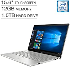 HP Pavilion Business Flagship Laptop PC 15.6 Inch FHD IPS WLED-Backlit Touch Screen Intel i7-8550U Processor 12GB DDR4 RAM...