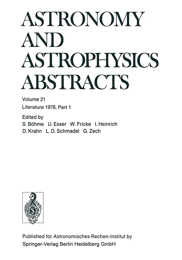 Literature 1978, Part 1 (Astronomy and Astrophysics Abstracts)