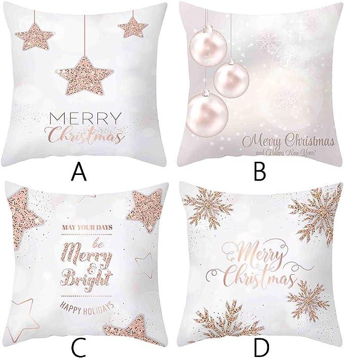 Christmas Xmas Gift Throw Pillow Case Cover Cushion Sofa Car Home Decor Y1