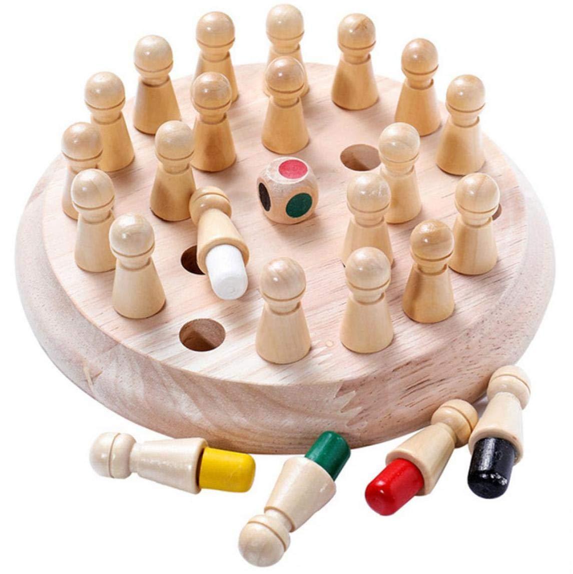 Madera Juego De Memoria Partido, Regalos Herramienta Educativa Brain Training Inteligencia Juegos De Mesa Familiar Para Niños Y Adultos: Amazon.es: Juguetes y juegos