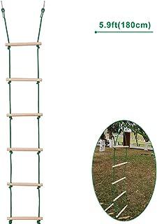 Minetom 12M Kids Swinging Obstacle Course Set Portable Slack Line Monkey Bars Kit Slack line Kits Outdoor Sport Balance Trainer Rope