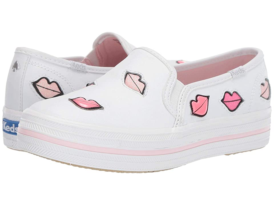 Keds x kate spade new york Kids Triple Decker (Little Kid/Big Kid) (White) Girl