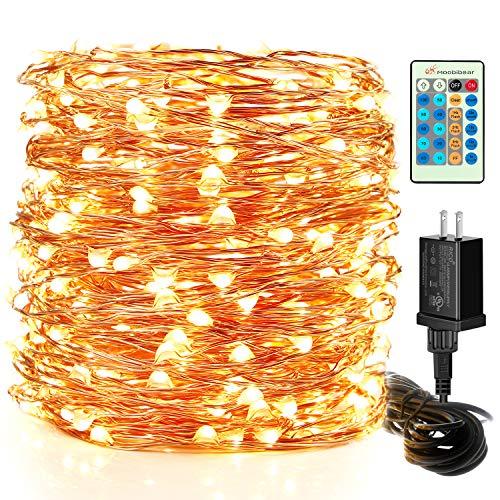 Moobibear LED String Lights, 99ft 300 LEDs Fairy Lights Plug in, Dimmable...