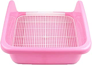 YYXK Cat Litter Tray Folding With Pet Fence Type Toilet For Dog Large Potty Urinal Basin (Color : B)