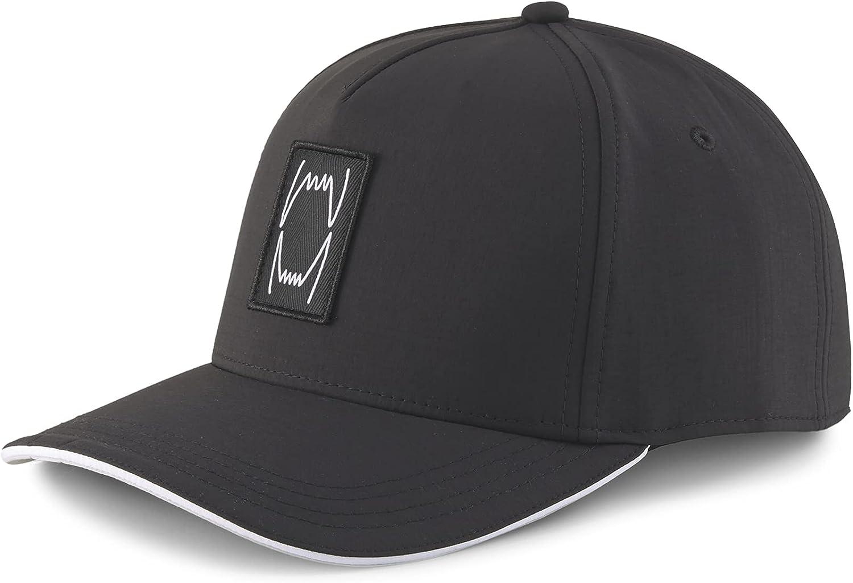 PUMA Basketball Low Curve Brim Adjustable Snapback Hat Black