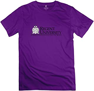 Purple Regent University Short-Sleeve T Shirts For Size L