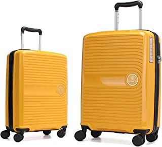 GinzaTravel Anti-scratch PP Material Hardside Spinner luggage, Wear-resistant, Lightweight Spinner Suitcase,Universal whee...