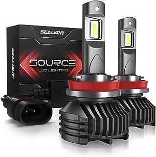 H11/H8/H9 LED Headlight Bulbs Low High Beam 12,000 Lumen High Power 6000K Xenon White SEALIGHT S3 Series