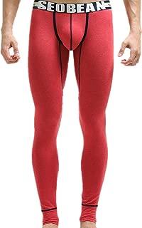 PASATO Clearace Sale! Mens Winter Cotton Breathable Sports Leggings Thermal Long Johns Underwear Pants