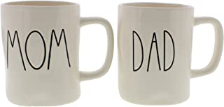 Rae Dunn Mom & Dad Set of (2) Mugs By Magenta