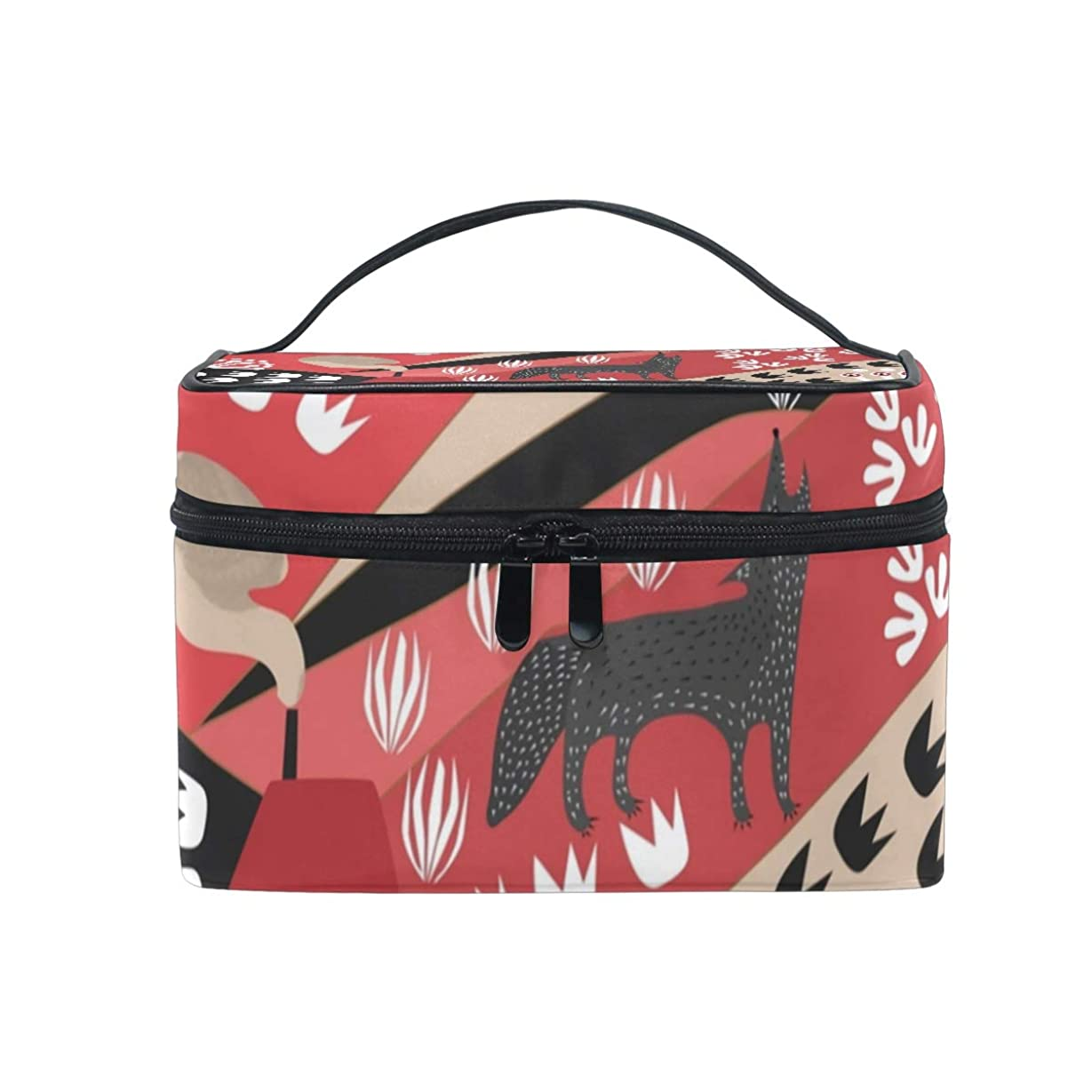 箱サーキットに行く画像メイクボックス 狼 土地柄 化粧ポーチ 化粧品 化粧道具 小物入れ メイクブラシバッグ 大容量 旅行用 収納ケース