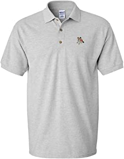 Custom Polo Shirt Wrestling Sports A Embroidery Design Cotton Golf Shirt for Men