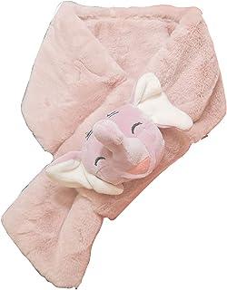 Kids Girl Boy Cold Weather Winter Faux Fur Scarf Fluffy Furry Elephant Neck Wraps (PURPLE PINK)