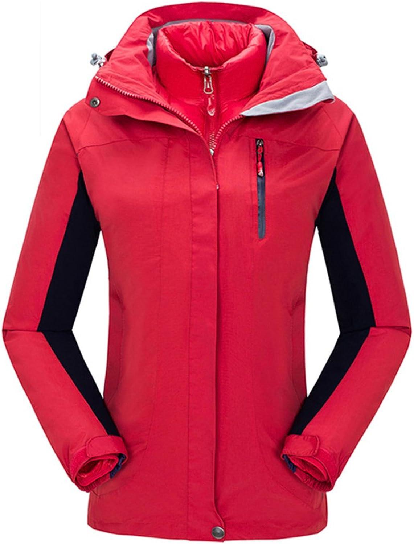 CIKRILAN Womens 3in1 Windproof Breathable Sport Jacket Warm Coat Hiking Outerwear