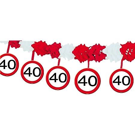 Geburtstags Absperrband 70 Jahre Party Deko Verkehrsschild L/änge 15m