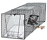 OxGord Live Animal Trap 24' x 7' x 7' Catch Release Humane Rodent Cage for Rabbits, Stray Cat, Squirrel, Raccoon, Mole,...