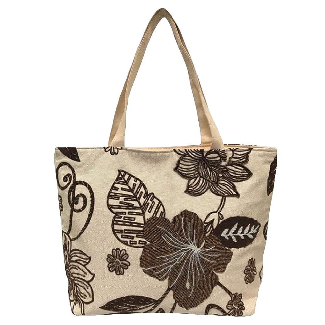 蒸留する患者桁ベトナムバッグ ビーズ トートバッグ 肩掛け 鞄 ベトナム雑貨