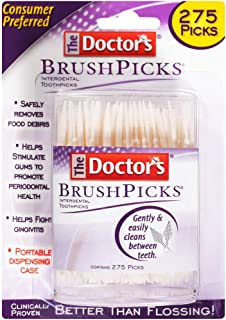 The Doctor's BrushPicks Interdental Toothpicks, 275 Picks