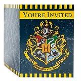 Unique Party 59114 - Invitations de Fête - Fête à thème Harry Potter - Paquet de 8