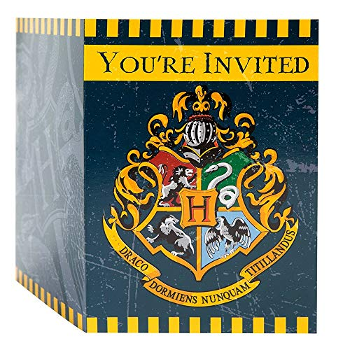Unique Party 59114 - Invitations de Fête - Fête à thème Harry Potter - Paquet de 8
