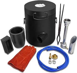 TOAUTO 6 Kg Propane Melting Furnace Kit w Clay Graphite Foundry Crucible 2700F 1500C Kiln Smelting Jewelry Precious Metal ...