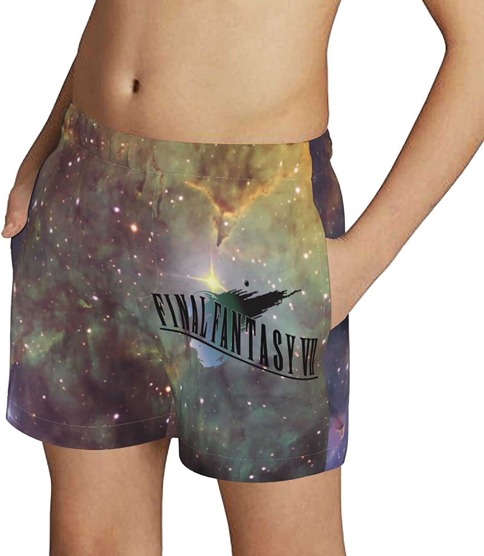 ZZHZMH Final Fantasy VII Remake Boys Swim Trunks Drawstring Beach Shorts Swimwear Boardshort with Pockets
