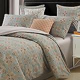 Brandream Duvet Cover King Size Paisley Bedding Chic Regal Themed Boho Luxury Bedding Set, Taupe