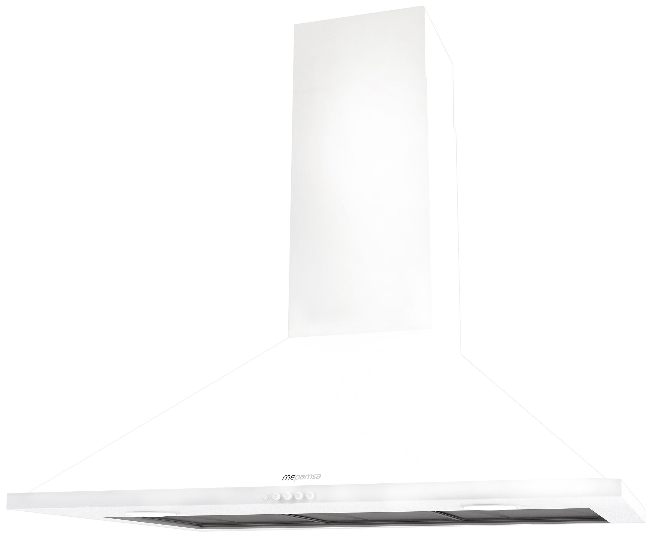 Mepamsa Syntesis H 60 V2 Campana aspirante decorativa de pared, color blanco, 28 W, 3 Velocidades: Amazon.es: Grandes electrodomésticos