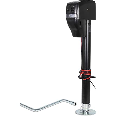 RV Electric Tongue Jack Black 3500 lb Capacity Camper Power Jack Trailer