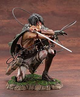 Attack on Titan Figure Attack auf der Statue von Titan, Blutige Schlacht von Ackerman Kapitän Levi, geschlitzt, PVC-Figur, zum Sammeln, Geschenke, Statue Anime, Modell Dekoration