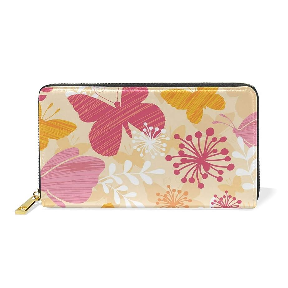 休暇瞑想踏み台マキク(MAKIKU) 長財布 レディース 大容量 バタフライ 蝶柄 和風 レザー 革 プレゼント対応