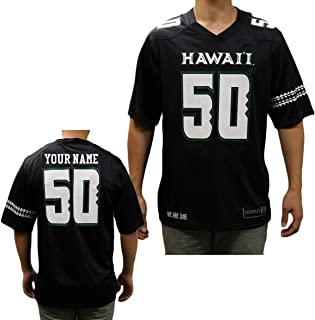 Custom Hawaii Rainbow Warriors Football Black Replica Jersey