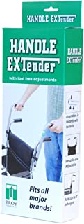 Troy Technologies | Wheelchair Push Handle Extender - Universal Attachments for Wheelchairs and Strollers