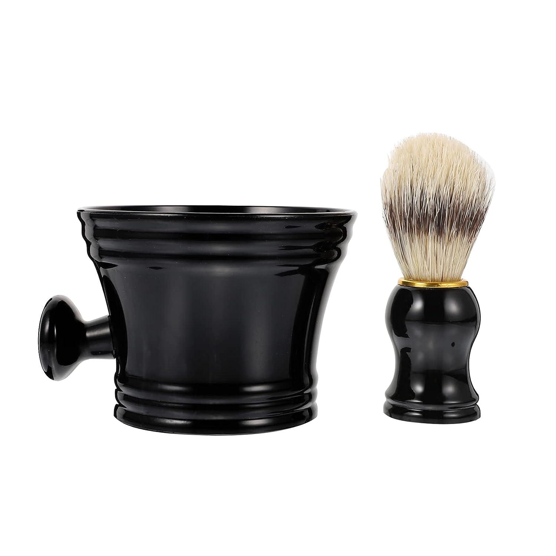 HEALLILY 2pcs Men New arrival Shaving Fashionable Set Brush Hair 2 1 In