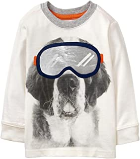 Gymboree Toddler Boys' Ivory Ski Dog Tee 2T