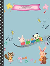 Sheet Music Composition Notebook with Blank Staves / Staff Manuscript Paper for the Art of Composing Kawaii Panda Train with Cute Animals: Kids Music Book (Kawaii Train with Cute Animals Cover)