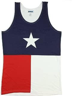Calhoun Texas State Flag Men's Tank Top White