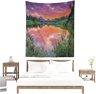 plum and bow purple mountain tapestry