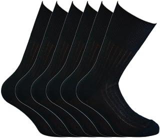 Fontana Calze, 12 paia di calze UOMO sanitarie a bassa compressione in cotone 100%.