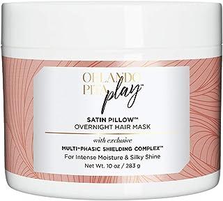 Orlando Pita Play Satin Pillow Overnight Hair Mask, Replenishes Moisture & Shine, No Parabens, No SLS/SLES, 10 Oz
