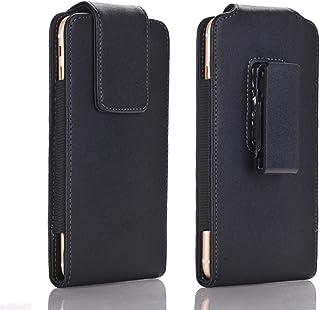 PUレザーベルトケース 縦型 スマホポーチクリップ レザー スマホケース ベルトホルダー Sony Xperia 10 II,Xperia XA Ultra対応 携帯電話用