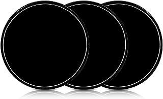 kwmobile 3X Universal Gel Klebepads   Doppelseitig klebende Anti Rutsch Silikon Gelpads Schwarz   optimal als Smartphone Halter oder Navi Halterung