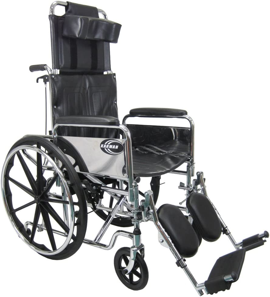 Karman Recliner Wheelchair in 20 an with Removable Max Challenge the lowest price of Japan 67% OFF Headrest inch