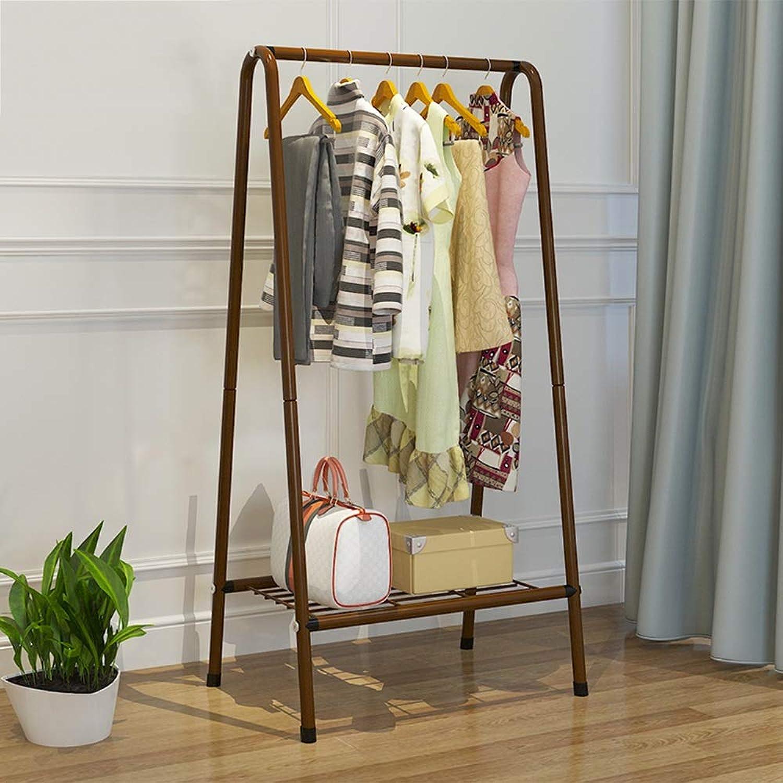 Chunlan Coat rack Metal Clothing Rack Coat Rack Storage Shelf Entrance Manager (color   Brown)
