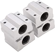 HICTOP Linear Motion Ball Bearing CNC SCS8UU Slide Unit Bushing Linear Roller Bearing Slide Block (Pack of 4)