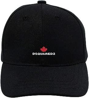 disar-t Dsquared 2 Logo Adjustable Unisex Baseball Cap Casual Hat Black