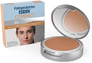 Fotoprotector ISDIN Compact SPF 50+ Bronce - Protector solar facial, Cobertura natural de larga duración, Apto para piel atópica y sensible, 10 g