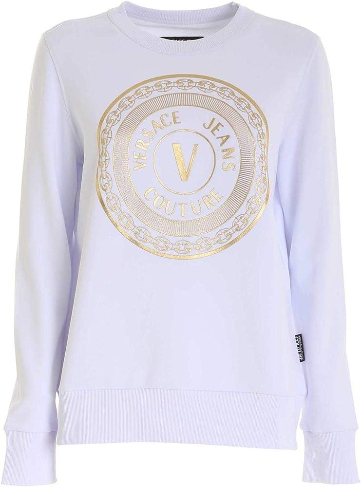 Versace jeans couture, felpa per donna,100%cotone,taglia s